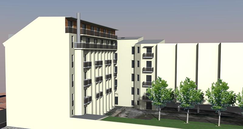 areál nemovitostí eFi Palace, Brno, Bratislavská 52