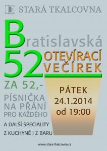 plagátek B52: otevírací večírek