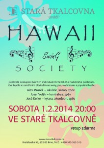 plagatek Hawaii Swing Society ve Stare Tkalcovne