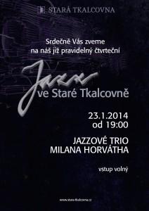 Jazz ve Staré Tkalcovně 23.1.2014