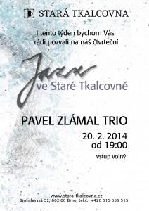 Jazz ve Staré Tkalcovně: Pavel Zlámal trio