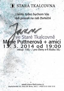 Jazzový čtvrtek: Marie Puttnerová + amici (CZ/IT)