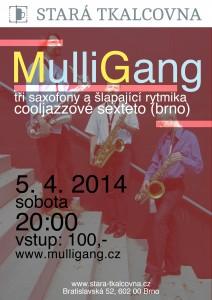 Sobotní koncert: MULLIGANG (cooljazz, Brno)