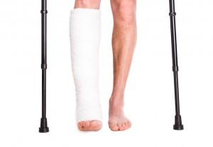 Zlomenina nohy v sádře